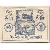 Billet, Autriche, Peuerbach, 50 Heller, Village 1920-04-07, SUP Mehl:FS 741IIa - Austria