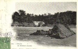 Chute De Khone (Laos) + Beau Timbre 5c Indochine RV - Laos