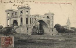 CAMBODGE PHNOM PENH Pont De Verneville + Beau Timbre 15 Surchargé 05 Indochine RV - Cambodge