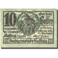 Billet, Autriche, Kufstein, 10 Heller, Château 1919-12-31, SUP Mehl:FS 491e - Austria