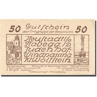 Billet, Autriche, Windpassing, 50 Heller, Eglise 1, 1920, SPL Mehl:FS 665a - Austria