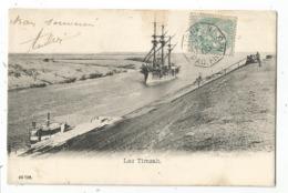 N°111 AU RECTO MARITIME LIGNE N PAQ FR N°8 1905  CARTE EGYPTE LAC TIMSAH - Poste Maritime