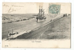 N°111 AU RECTO MARITIME LIGNE N PAQ FR N°8 1905  CARTE EGYPTE LAC TIMSAH - Storia Postale