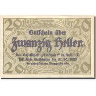 Billet, Autriche, Hall, 20 Heller, Lavoir, 1920, 1920-10-31, SPL, Mehl:FS 343a - Austria