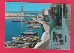 Modern Post Card Of Harbour,Réthimno, Crete, Greece,X35. - Greece