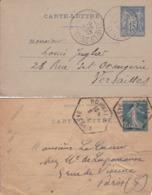 Lot De 2 Entier - Carte-lettre - (voir Scan) - Postal Stamped Stationery