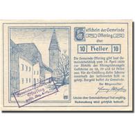 Billet, Autriche, Oftering 10 Heller, Château I1920-04-18, SPL Bleu Mehl:FS 706c - Austria