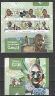 BC1192 2012 MOZAMBIQUE MOCAMBIQUE FAMOUS PEOPLE MAHATMA GANDHI 1SH+1BL MNH - Mahatma Gandhi