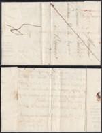 """BELGIQUE LETTRE DE MONS 22/04/1823 GRIFFE"""" BERGEN FRANCO"""" FAIBLE VERS BEAUMONT (DD) DC-4424 - 1815-1830 (Dutch Period)"""