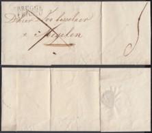"""BELGIQUE LETTRE DE BRUGGE 13/05/1824 GRIFFE"""" BRUGGE FRANCO""""  VERS MECHELEN (DD) DC-4425 - 1815-1830 (Dutch Period)"""