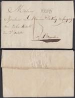 """BELGIQUE LETTRE DE GAND 02/01/1828 GRIFFE"""" GEND"""" ( 18X4.5 )VERS BRUXELLES (DD) DC-4430 - 1815-1830 (Dutch Period)"""
