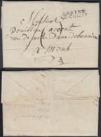 """BELGIQUE LETTRE DE BRAINE LE COMTE 15/11/1827 GRIFFE"""" BRAINE LE-COMTE"""" (29 X 7)VERS MONS (DD) DC-4433 - 1815-1830 (Dutch Period)"""
