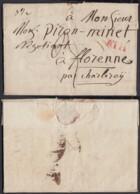 """BELGIQUE LETTRE DE PERUWELZ 04/09/1821 GRIFFE"""" ATH""""VERS CHARLEROI ET REEXPEDIE 17/01/1822 (DD) DC-4432 - 1815-1830 (Dutch Period)"""
