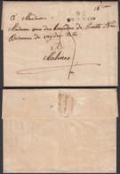 """BELGIQUE LETTRE DE SAINT-TROND GRIFFE""""95 / ST TRON"""" (30X11) VERS MALINES  (DD) DC-4436 - 1815-1830 (Dutch Period)"""