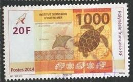 Polynésie Française - Polynesien - Polynesia 2014 Y&T N°1049 - Michel N°(?) (o) - 20f Billet De 1000f - Polynésie Française