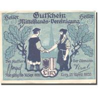 Billet, Autriche, Linz, 25 Heller, Blason, 1920, 1920-09-30, SUP, Mehl:FS 550a - Austria