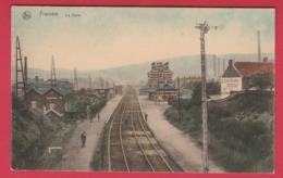 Franière - La Gare ... Jolie Carte Colorisée ( Voir Verso ) - Floreffe