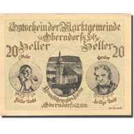 Billet, Autriche, Oberndorf, 20 Heller, Eglise 1920-12-30, SPL, Mehl:FS 690a - Austria