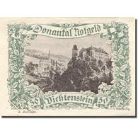 Billet, Autriche, Dichtenstein, 50 Heller, Château, SPL Vert Mehl:FS 127j - Austria