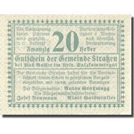 Billet, Autriche, Strassen, 20 Heller, Valeur Faciale 1920-08-31, SPL Mehl:FS 73 - Austria