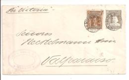 Postal Stationery. Letter Huasco>Valparaiso Por Victoria Vapor - Chile