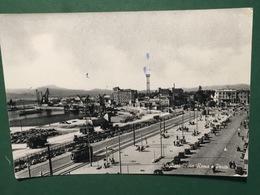 Cartolina Cagliari - Via Roma E Porto - 1953 - Cagliari