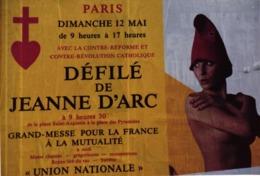 CPM DEFILE DE JEANNE D'ARC - GRAND MESSE POUR LA FRANCE A LA MUTUALITE - Evènements