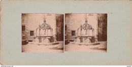 PHOTO STEREO 1906 CHATEAU DE NANTES ARMATURE EN FER FORGE DU PUITS - Photos Stéréoscopiques