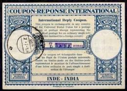 INDE / INDIA Lo15 ms. 8 / HS 7 Annas / 5a 6pInternational Reply Coupon Reponse Antwortschein IRC IAS O TRICHUR 17.7.5 - Sin Clasificación