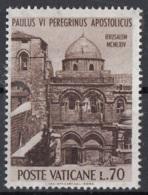 Vaticano 1964 Uf. 377 Pelligrinaggio Pope Papa PaoloVI Terra Santa MNH S. Seplcro A Gerusalemme - Cristianismo