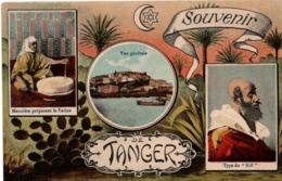 Souvenir De Tanger 1919 - Meunière Et Type Du Riff - Croissant & étoile De David - Tanger