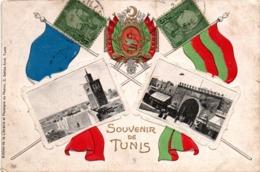 Souvenir De Tunis 1917 - édit Librairie Du Phénix - Drapeau & Blason - Tunisia