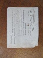 AVESNES CE 12 BRUMAIRE AN 11 JE SOUSSIGNE RECEVEUR PARTICULIER DE L'ARRONDISSEMENT D'AVESNES RECONNAIS AVOIR RECU DU CIT - Documents Historiques