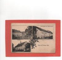 ERCHING  GUIDERKIRCH  EPPING  GRUSS  AUS  ERCHINGEN  SCHULHAUS  ANIMATION  An: Vers 1910  Etat: TB Edit: Trunelle - France