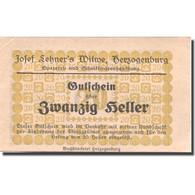 Billet, Autriche, Herzogenburg, 20 Heller, Valeur Faciale, SUP, Mehl:FS 370 - Austria
