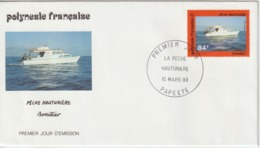Polynésie FDC 1993 Bateaux 429 - FDC