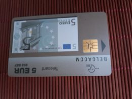 Phonecard Banknote 5 Euro  Used - Belgique
