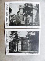 Old Matchbox Label 2 Labels Lithuania Raudone Castle - Matchbox Labels
