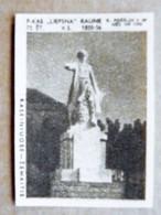 Old Matchbox Label Lithuania Raseiniai Zemaitis Monument - Zündholzschachteletiketten