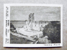 Old Matchbox Label Lithuania Raseiniai Trakai Castle - Matchbox Labels