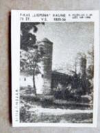 Old Matchbox Label Lithuania Raseiniai Vytenai Castle - Matchbox Labels