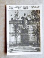 Old Matchbox Label Lithuania Raseiniai Ukmere Monument - Matchbox Labels