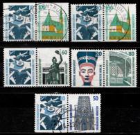 BRD 5 Zusammendrucke Gestempelt (7365) - Sammlungen (ohne Album)