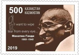Kazakhstan 2019. 150 Years Since The Birth Of Mahatma Gandhi. New!!! - Mahatma Gandhi