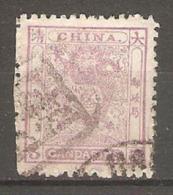 Timbre De 1885 ( Chine / Dragon ) - Oblitérés