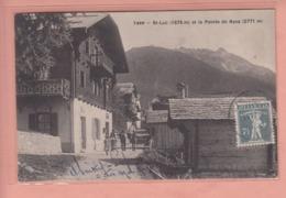 OUDE POSTKAART ZWITSERLAND - SCHWEIZ - SUISSE - ST. LUC - POSTE - BAZAR - VS Wallis