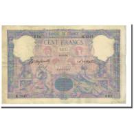 France, 100 Francs, Bleu Et Rose, 1893-04-15, TB+, Fayette:21.7, KM:65b - 1871-1952 Anciens Francs Circulés Au XXème