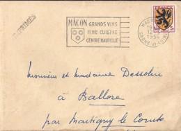 BLASON N°602 SEUL SUR LETTRE DE 1954 - 1941-66 Wapenschilden