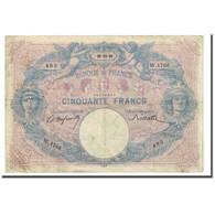 France, 50 Francs, Bleu Et Rose, 1899-12-29, B+, Fayette:14.11, KM:64b - 1871-1952 Antichi Franchi Circolanti Nel XX Secolo