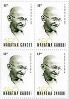 150th BIRTH ANNIVERSARY OF MAHATMA GANDHI . Azerbaijan Stamps. 2019. 4 Stamps MNH. Registered Mail - Azerbaïjan